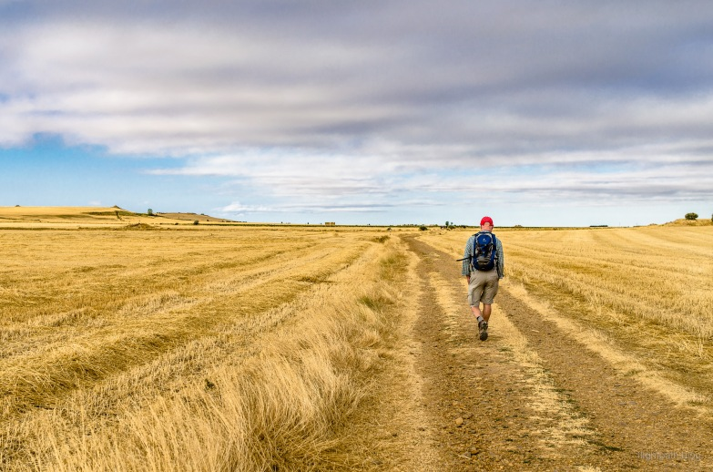 Geoff on the Camino Trail