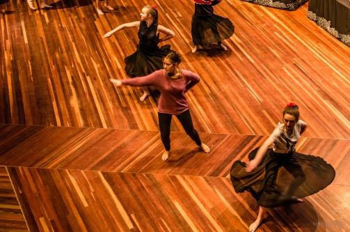 Dancers rehearsing
